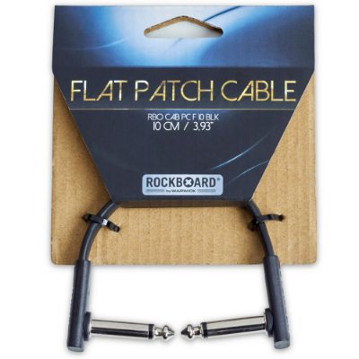 Cabo para pedal Rockboard 10cm Flat Patch Cable RBOCABPCF10BLK