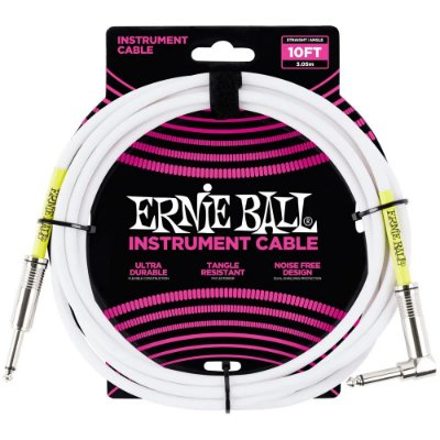 Cabo Ernie Ball 6049 3,0m Branco - para instrumentos