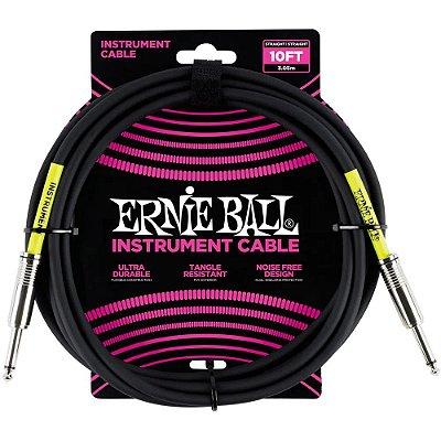 Cabo Ernie Ball 6048 3,0m Preto - para instrumentos
