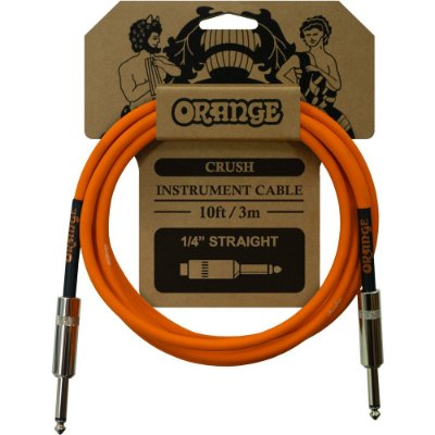 Cabo Orange CA034 Crush Instrument Cable 10ft 3,0m Reto - Reto