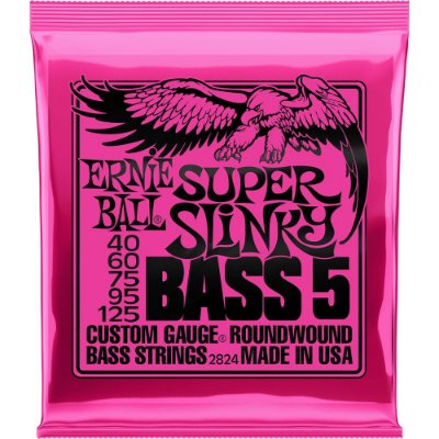 Encordoamento Baixo 5 Cordas Ernie Ball 2824 040-125 Super Slinky