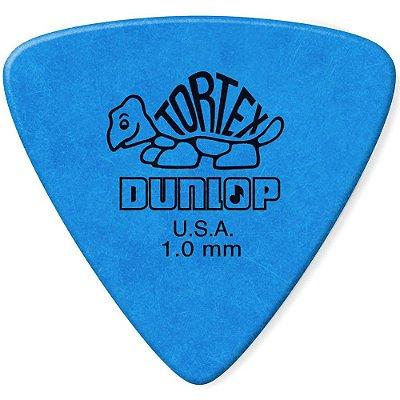 Palheta Dunlop 431 1.0 Tortex Triangles 1.0mm Azul - unidade