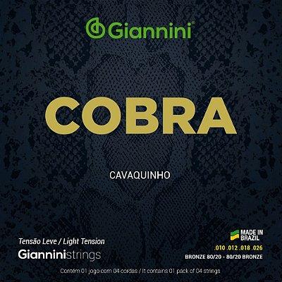 Encordoamento Cavaquinho Giannini Cobra Bronze 80/20 CC82L Leve 010-026