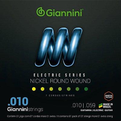 Encordoamento Guitarra 7 Cordas Giannini 010-056 GEEGST710