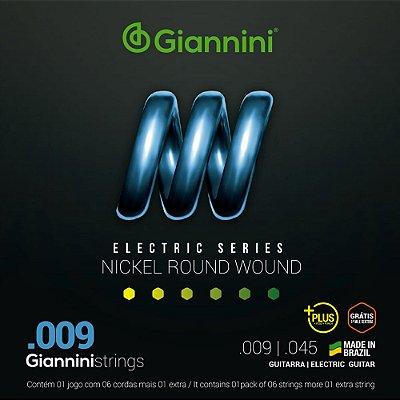 Encordoamento Guitarra Giannini 009-045 Plus GEEGSTP.9