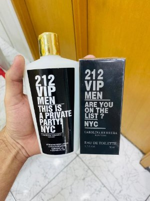 Kit Perfume e Hidratante 212 Vip Men