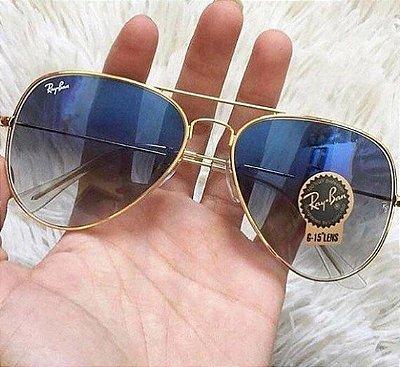 Óculos RB Aviador Azul Degradê