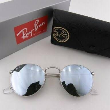 Óculos RB Round Prata Espelhado