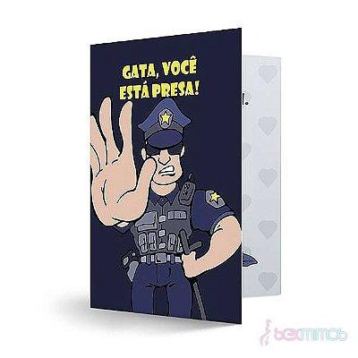 Cartão Divertido - Gata Você está Presa