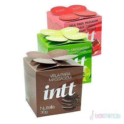 Vela para Massagem Beijável 30g - Menta, Morango e Nutella