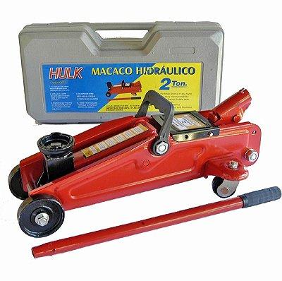 Macaco Hidráulico Modelo Jacaré com Maleta  2t