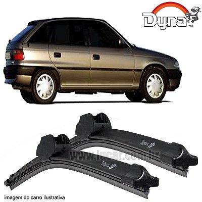 Palheta Limpador de Parabrisa Astra 1995 até 1997 da Dyna Modelo Slim Blade, O Par Dianteiro