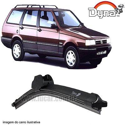 Palheta Limpador de Parabrisa Elba de 1986 até 1997 da Dyna Modelo Slim Blade, O Par Dianteiro