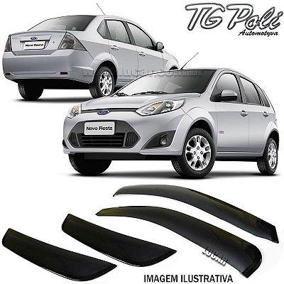 Calha de Chuva Fiesta 4 Portas 2003 a 2011, Fiesta Rocam 2012 em diante Hatch e Sedan