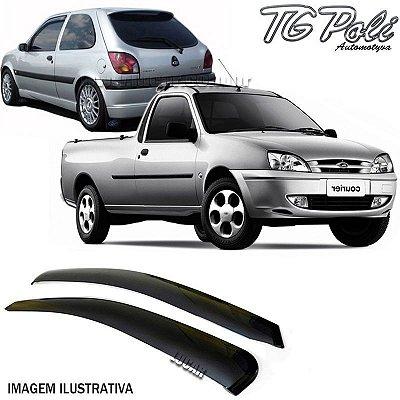 Calha de Chuva Fiesta 2 Portas 1996 a 2002, Street 2002 a 2006 e Courier Todas