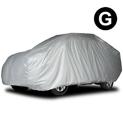 Capa para Cobrir Carro Impermeável com Forro Parcial Tamanho G Sedan Médio