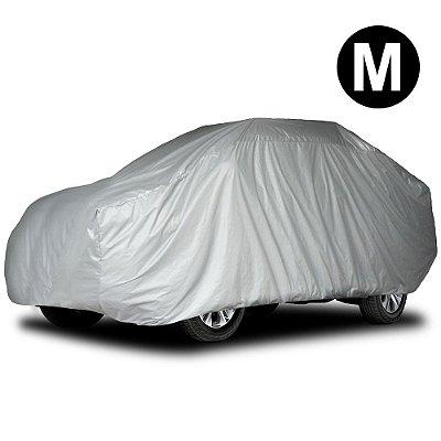 Capa Para Cobrir Carro Impermeável Com Forro Parcial Tamanho M Hatch Grande e Sedan Pequeno