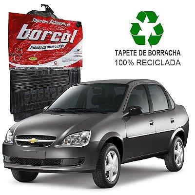 Tapete Borcol Corsa Sedan, Hatch e Wagon 1994 a 2002 Sedan 2002 a 2007 Spirit e Classic 2008 em diante de Borracha Jogo c/ 4 Peças