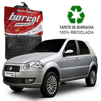 Tapete Borcol Palio 2008 a 2012 de Borracha Jogo c/ 4 Peças