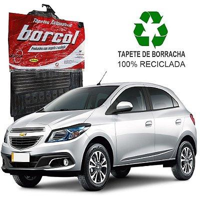 Tapete Borcol Onix de Borracha Jogo c/ 4 Peças