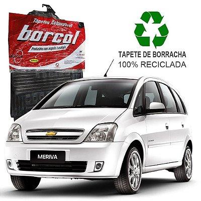 Tapete Borcol Meriva de Borracha Jogo c/ 4 Peças