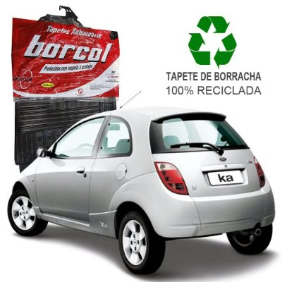 Tapete Borcol Ka 1997 a 2007 de Borracha Jogo c/ 4 Peças