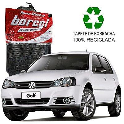 Tapete Borcol Golf 1998 a 2012 de Borracha Jogo c/ 4 Peças