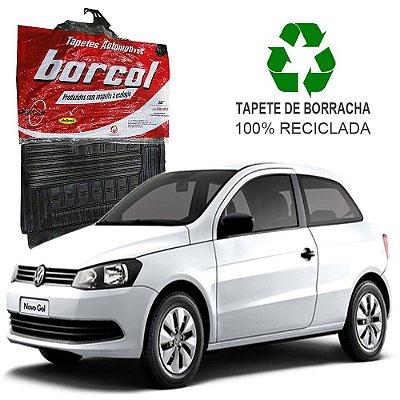 Tapete Borcol Gol e Voyage G6 2012 em diante de Borracha Jogo c/ 4 Peças