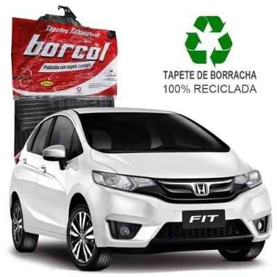 Tapete Borcol Fit 2014 em diante de Borracha Jogo c/ 4 Peças