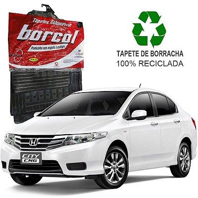 Tapete Borcol City 2009 a 2014 de Borracha Jogo c/ 4 Peças