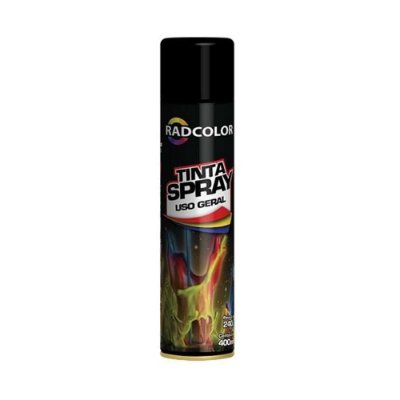 Tinta Spray Radcolor Preto Brilhante 400ml