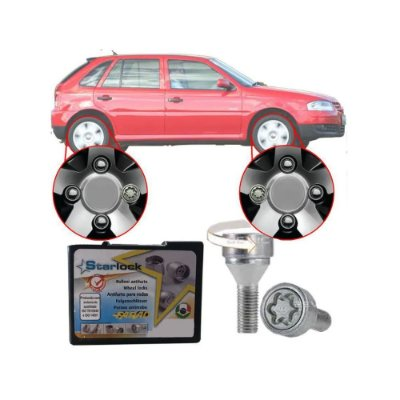 Trava Antifurto Anti Roubo de Roda Parafuso Porca Farad Starlock Volkswagen Gol G4
