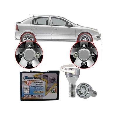 Trava Antifurto Anti Roubo de Roda Parafuso Porca Farad Starlock Chevrolet Astra