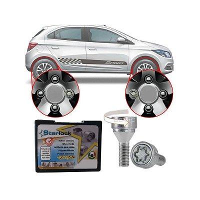 Trava Parafusos Porcas Antifurto Roubo Farad Starlock Chevrolet Onix 2012 Até 2020