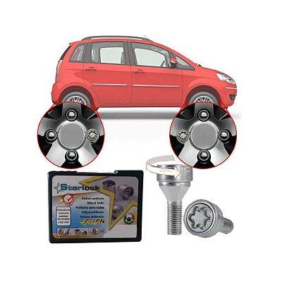 Trava Antifurto Anti Roubo de Roda Parafuso Porca Farad Starlock Fiat Idea 2006 à 2016