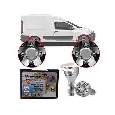 Trava Antifurto Anti Roubo de Roda Parafuso Porca Farad Starlock Fiat Fiorino 2005 em Diante