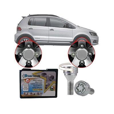 Trava Antifurto Anti Roubo de Roda Parafuso Porca Farad Starlock Volkswagen Fox 2004 à 2018