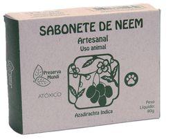 Sabonete de Neem Para Controle de Pulgas, Sarna e Carrapatos em PET's 80 g + Brinde