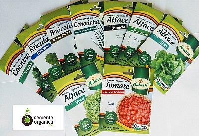 Kit 10 pacotes de sementes Orgânicas á escolher com Frete Grátis