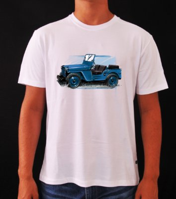 CAMISETA PREMIUM JEEP WILLYS AZUL