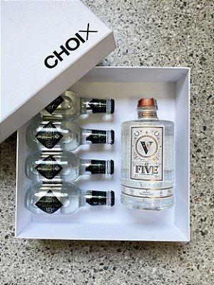 Gin At Five - 750 ml + Pack Com 4 Águas Tônica Classic - Original Tonic- 200ml