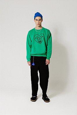 Blusa Moletom Verde Silk Heart Grande