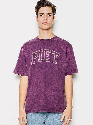 Piet Camiseta Roxa Manchada University