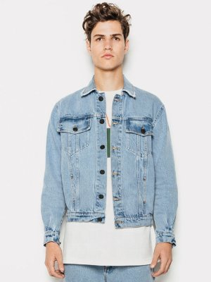 Piet Trucker Jacket Washed Jeans Claro