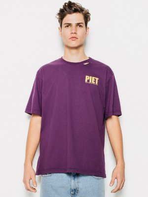 Piet Camiseta Roxa Uniform Distressed