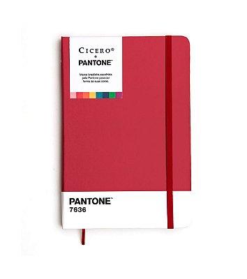 Caderneta Ciceros Cicero + Pantone Sem Pauta – 14×21 Vinho