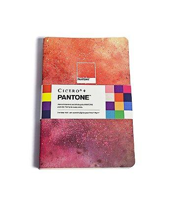 Caderneta Revista Cicero + Pantone Sem Pauta Kit 3 unidades 14×21 Tintas