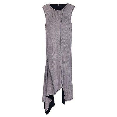 Vestido Ocksa Midi Preto