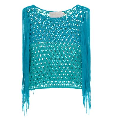 Top Crop Karine Fouvry Crochet e Franjas