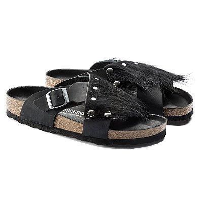 Sandália Guam Fur Black Birkenstock